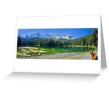 Island Lake Panorama - British Columbia Greeting Card