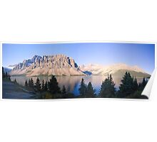 Crow Mountain, Crow Glacier and Bow Lake Panorama Poster