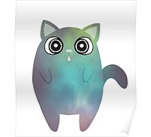 Tubby Pale Green Cat Poster
