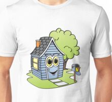 Blue House Cartoon Unisex T-Shirt