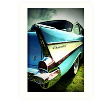 Fins and Chrome Art Print