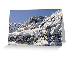 Frozen Rockies Greeting Card