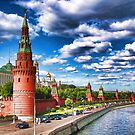 View at the Kremlin, Moscow, Russia by vadim19