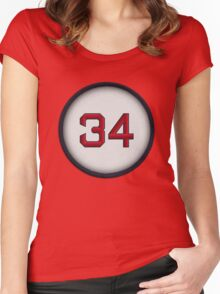 34 - Big Papi Women's Fitted Scoop T-Shirt
