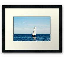 Sailing boat Framed Print