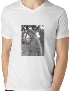 Face Palm Angel Mens V-Neck T-Shirt