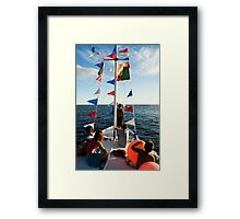 Kids on deck Framed Print