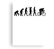 Evolution cycling bicycle Canvas Print