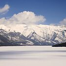 Winter on Lake Minnewanka by Tiffany Vest