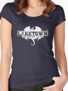 Laketown Archery Club (Dark) Women's Fitted Scoop T-Shirt