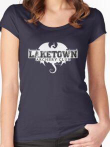 Laketown Archery Club (Dark) Women's Fitted Scoop T-Shirt