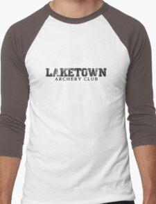 Laketown Archery Club (Dark) Men's Baseball ¾ T-Shirt