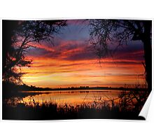 The Lakes Sunrise Poster