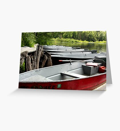 row boats Greeting Card