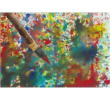 Paint Mess Photographic Print