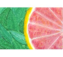 Pink Grapefruit Photographic Print