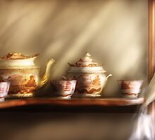 My Grandmother's Chinese Tea Set by Mike  Savad