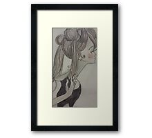 Passive Retro Girl Framed Print