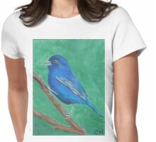 Indigo Bunting  Womens Fitted T-Shirt