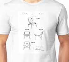 Iconic Eames LCW Molded Plywood Chair Patent Drawings Unisex T-Shirt