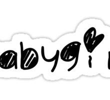 Sketchy babygirl Sticker