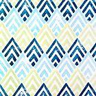 Blue Deco Diamond by Rachel Krueger