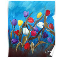 Tulips Galore II Poster