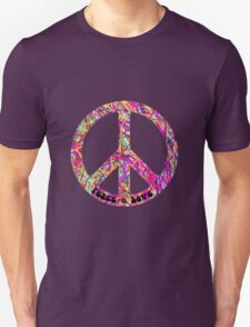 Psychedelic Peace Sign Unisex T-Shirt