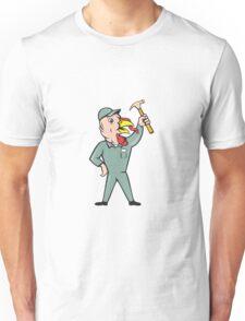 Turkey Builder Hammer Standing Cartoon Unisex T-Shirt