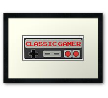 Classic Gamer (NES VERSION) Framed Print