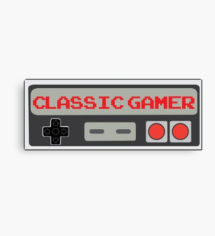 Classic Gamer (NES VERSION) Canvas Print
