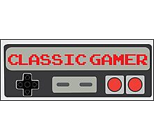 Classic Gamer (NES VERSION) Photographic Print