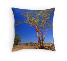 Colourful gum at dry creek bed Throw Pillow