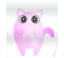 Tubby Pastel Pink Cat Poster