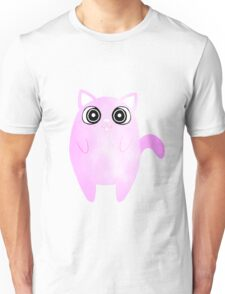 Tubby Pastel Pink Cat Unisex T-Shirt