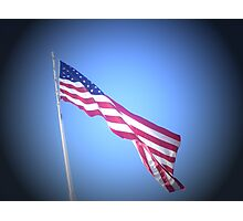 FLAG OF UNITED STATES OF AMEIRCA Photographic Print