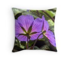 Glowing Rozanne Geranium Throw Pillow