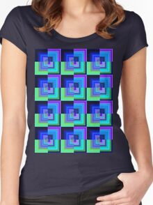 cold squares Women's Fitted Scoop T-Shirt