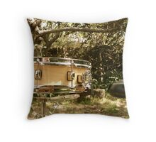 Snare Drum in the yard. Throw Pillow