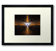 'Purity in Silver and Gold 2' Framed Print