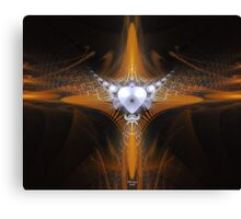 'Purity in Silver and Gold 2' Canvas Print