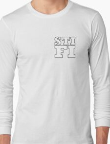 Sticky Fingers White Logo STIFI Long Sleeve T-Shirt