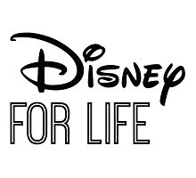 Disney For Life in black Photographic Print