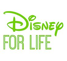 Disney For Life in green Photographic Print