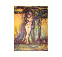 lilith satan adam fruit and the garden of eden Art Print