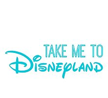 Take Me To Disneyland in blue Photographic Print