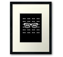 Glasses = HD white Framed Print