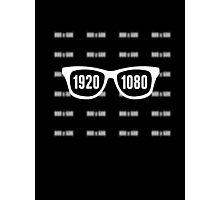 Glasses = HD white Photographic Print