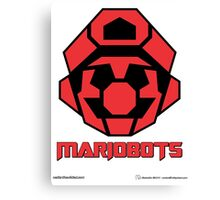 Mariobots! (FLAT RED) Canvas Print