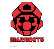 Mariobots! (FLAT RED) Photographic Print
